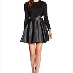 Sexy Black Skater Dress with Cut Out Sides